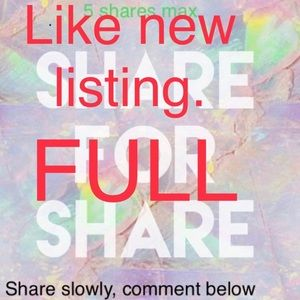 Like new listing🦋5 Shares for 5 Shares🦋